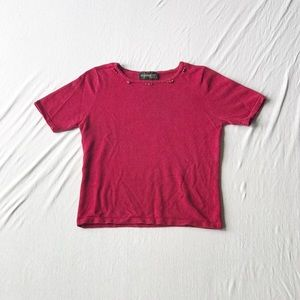 Red Rose Knit Top